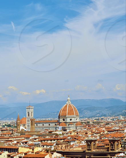 Florence Italy cathedral aerial view travel Firenze  photo