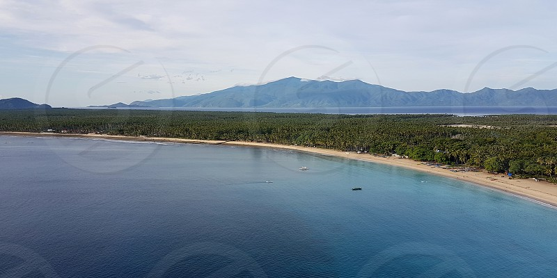 Flying over Mati City Philippines photo