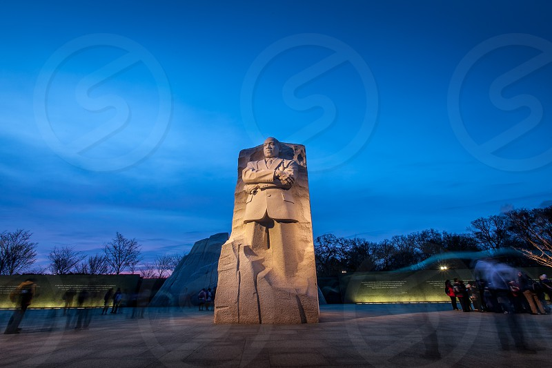 Twilight sets over the Martin Luther King memorial in Washington DC. photo