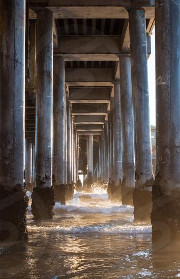 Underneath the Santa Monica Pier photo