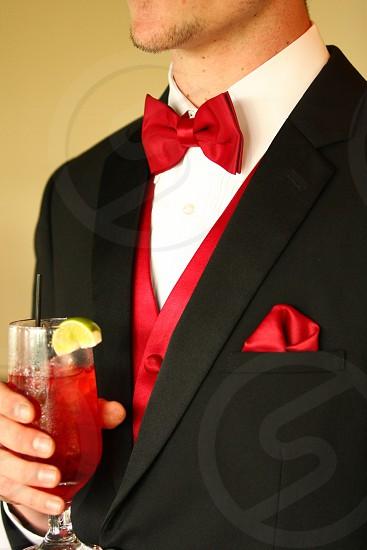 Black & Red Wedding Groom photo