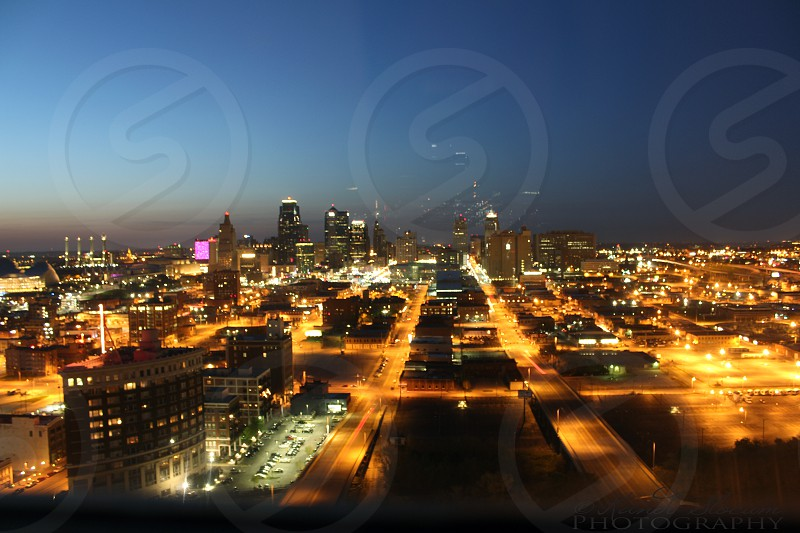 A city full of Lights- A view of Downtown Kansas City  photo