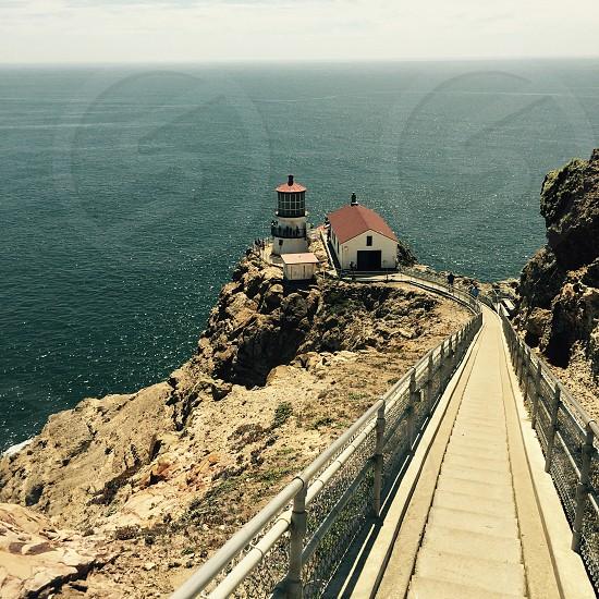 California coast lighthouse  photo