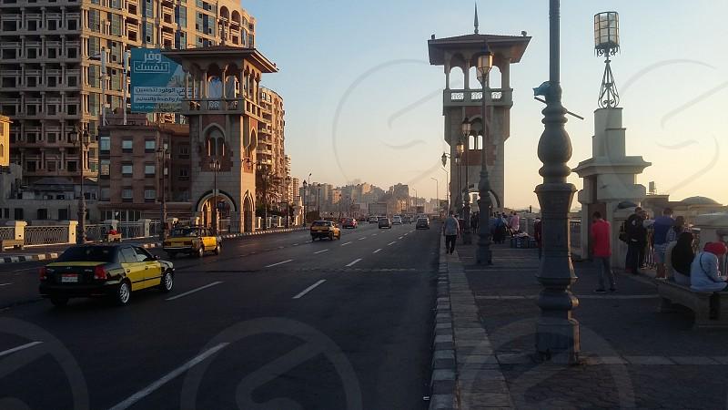 Stanly Bridge at Alexandria city in Egypt photo