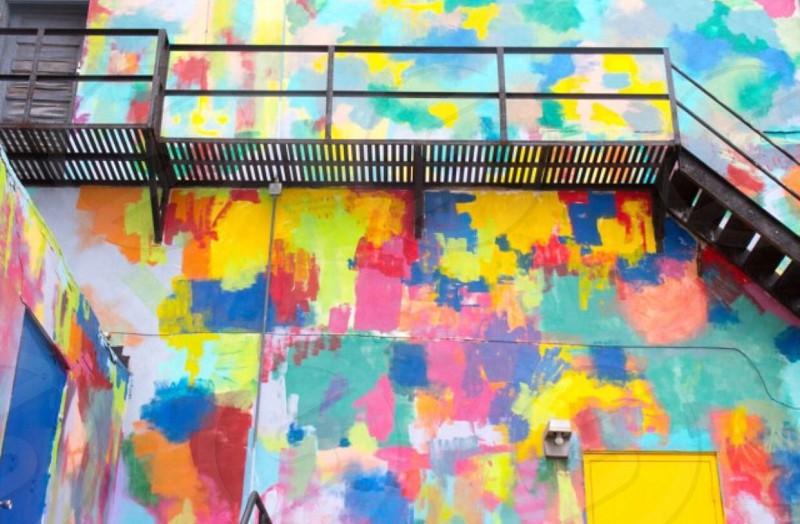 Colorfulcolorful wallwallbuildingcolorful building photo
