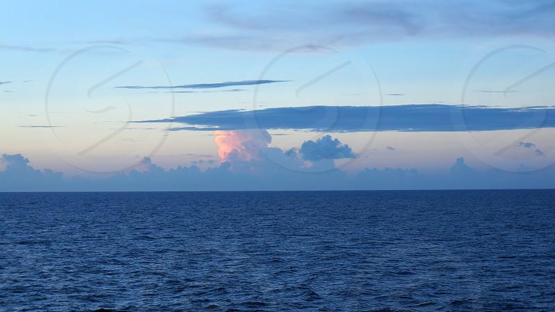 Storm cloud over the Atlantic Ocean photo
