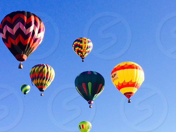 Colorful Hot Air Balloons in Sky photo