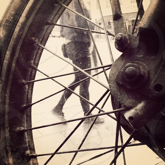 black motorcycle rim photo