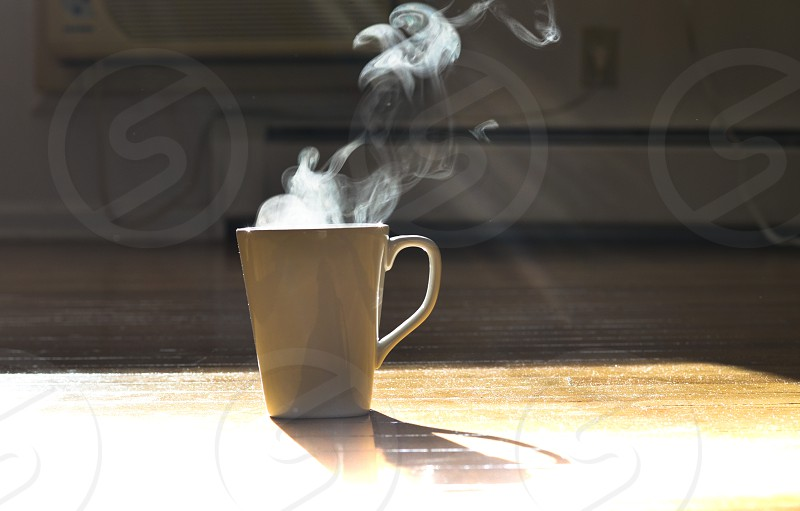 Steaming hot beverage photo
