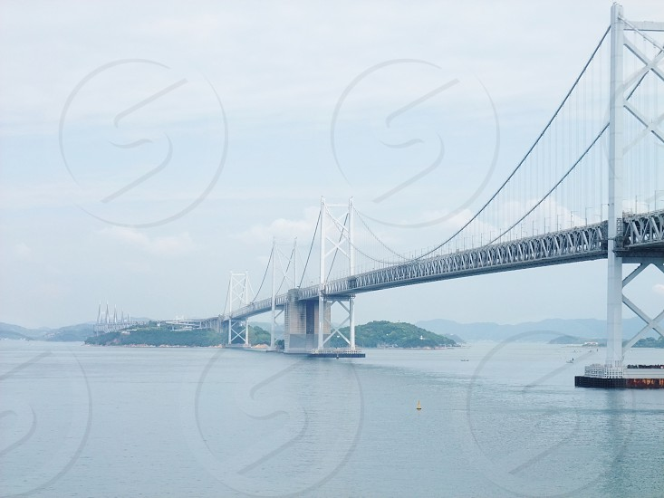 Shikoku Takamatsu Japan bridge sea photo