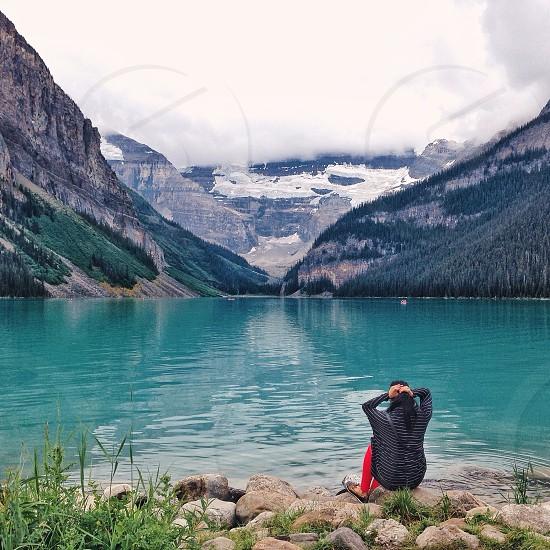 Rockies Rocky Mountains lake blue photo