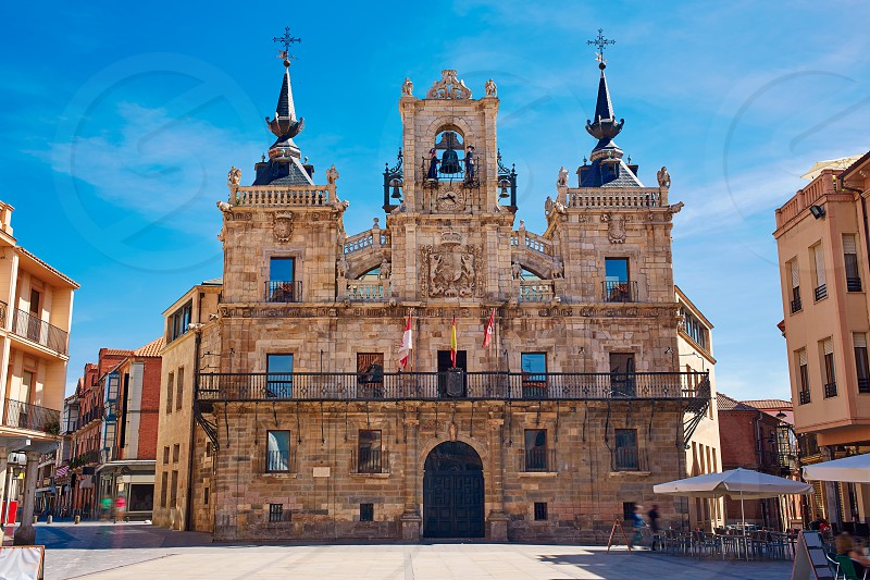 Astorga in Leon city town hall ayuntamiento by the way of saint james photo