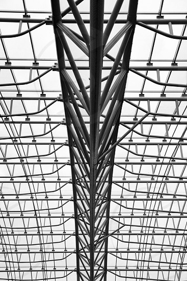 Black and White Structure Repetition Order Architecture photo