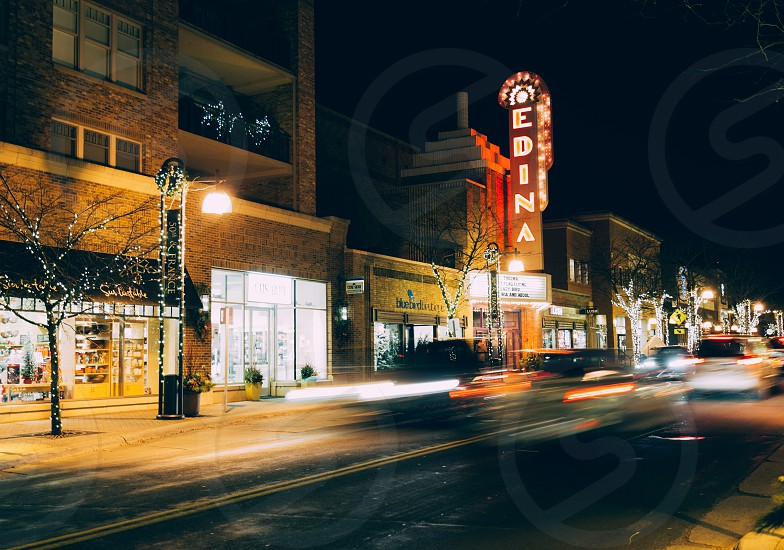 downtown edina MN at night photo