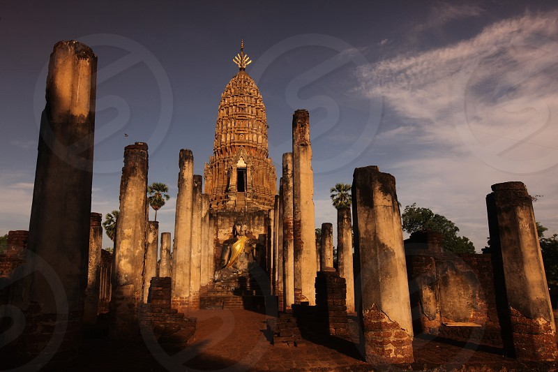 the Wat Phra Si Ratana Mahathat at the Si Satchanalai-Chaliang Historical Park in the Provinz Sukhothai in the north of Bangkok in Thailand Southeastasia. photo