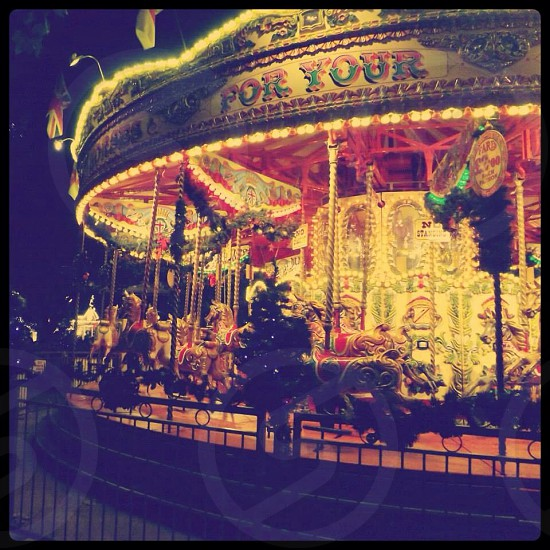Merry-go-round London South bank Christmas markets photo