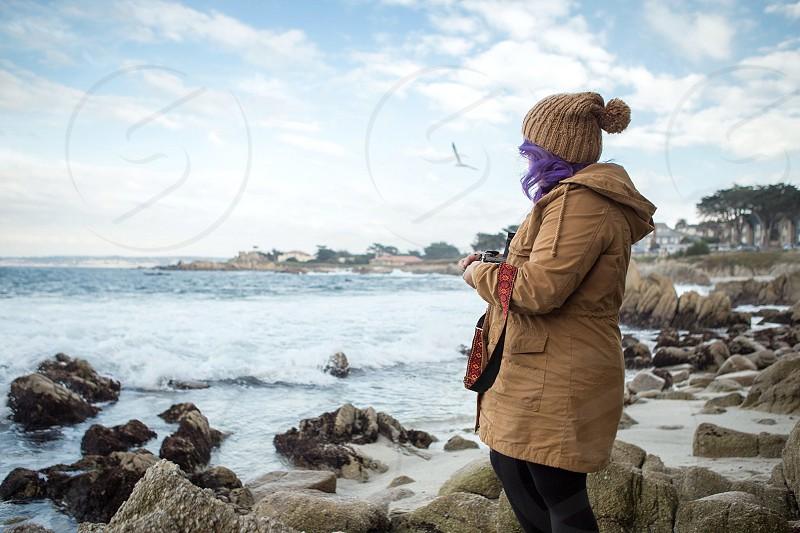 Travel vacationcoastpeopletogetheradventurewest coastwateroceanMontereyCarmelvisithertzcameraserenethought photo