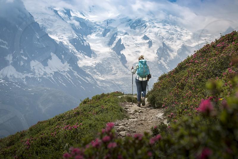 Alpine trekking. photo