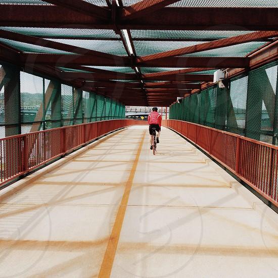Bike Ride over a bridge  photo
