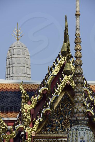 Die Tempelanlage des Wat Pho in der Hauptstadt Bangkok von Thailand in Suedostasien. photo
