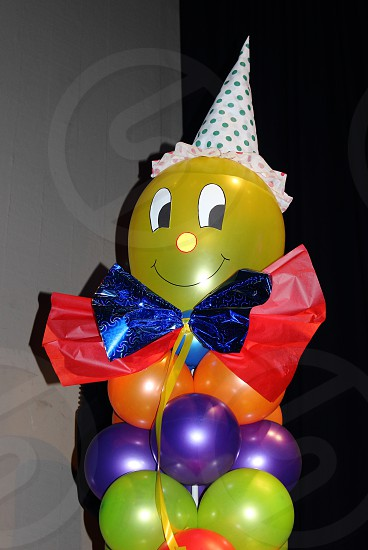balloon decoration forming a clown  photo