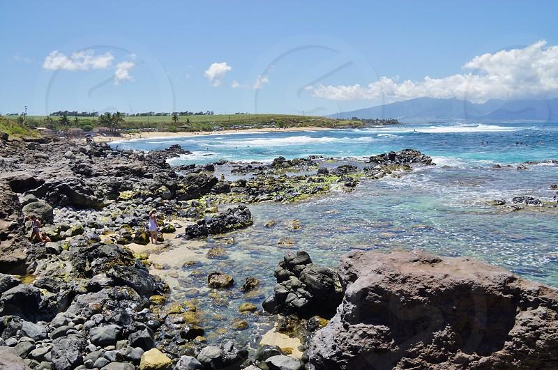 Hookipa Beach park in Maui Hawaii photo