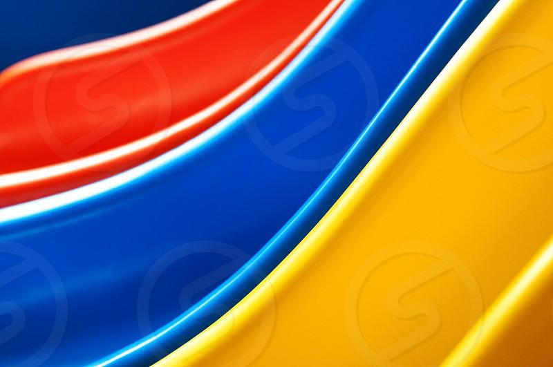 Closeup of colorful slides photo