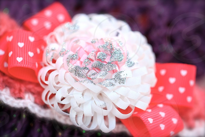 'Glitter' (1)  Glitter Glittery Accessories Ribbon Bow Pink Purple Silver Fashion Sparkling Crafts Handmade Blossom photo