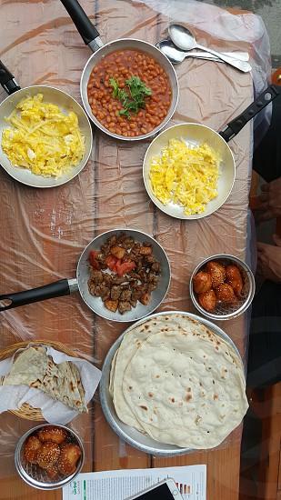 When in Bahrain  ... eat as Bahrainis do :) Traditional Breakfast- Bahrain April 2017. photo