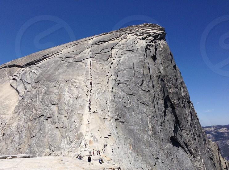 Mountain hiking photo