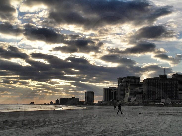 Beach Atlantic City New Jersey Sunset photo