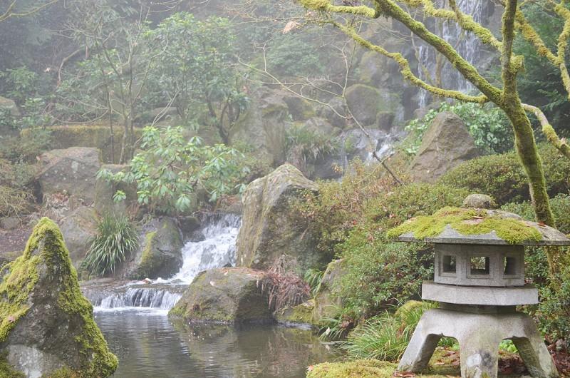 Portland Japanese Garden Portland Oregon By Jill Thornton Photo Stock Snapwire