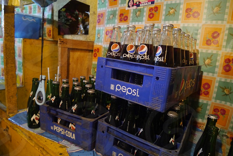 Night street food and drink Cebu Philippines photo