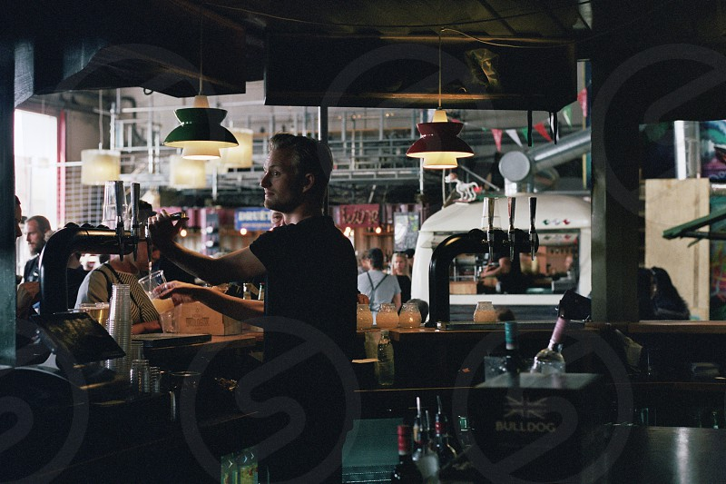Beer Drinks Film Retro Copenhagen Street Food Candid photo