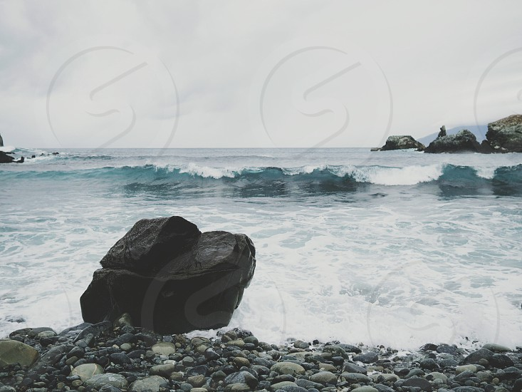 waves at jade cove in big sur photo