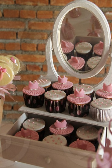 cupcakes on white dresser photo