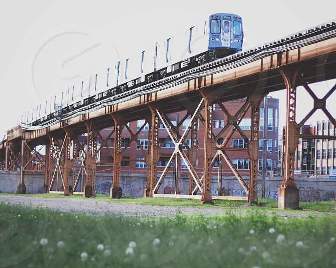Chicago train elevated track west side photo