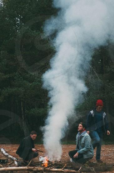 camping bonfire outdoors adventure Scotland photo