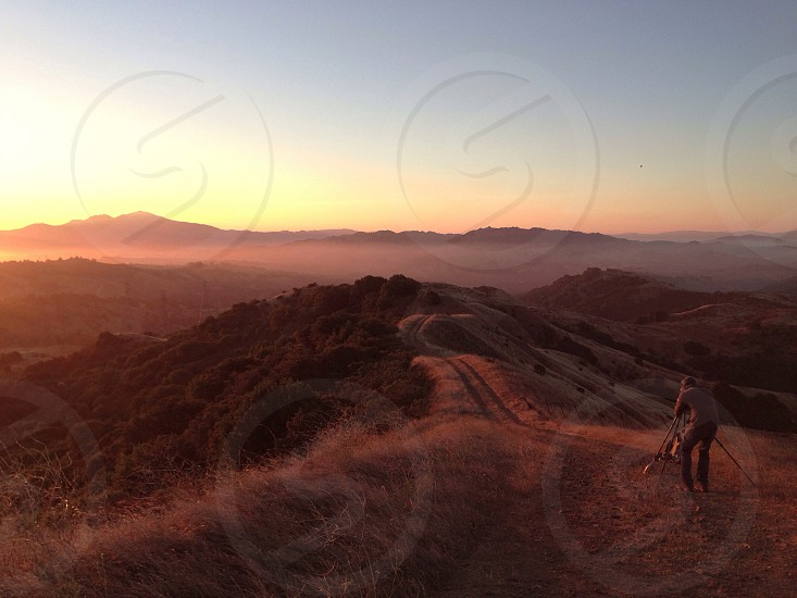 brown mountain view photo