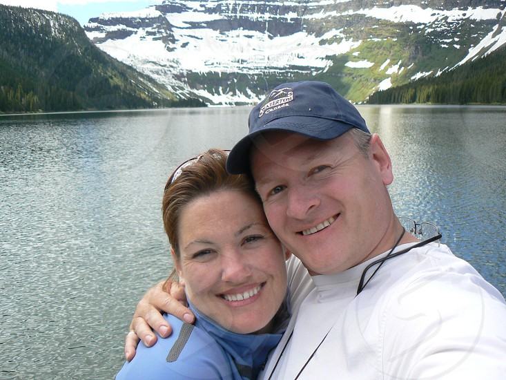 Cameron Lake Waterton Canada Couple Selfie photo