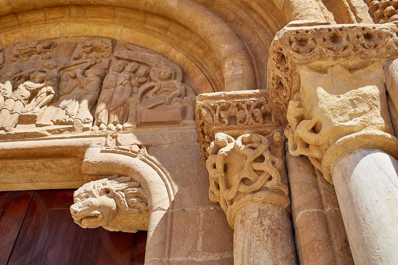 Leon San Isidoro church by the way of saint James at Castilla Spain photo
