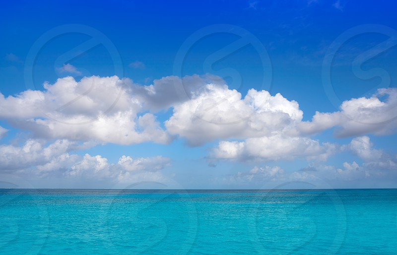 Caribbean perfect turquoise water texture in Mexico Mayan Riviera photo