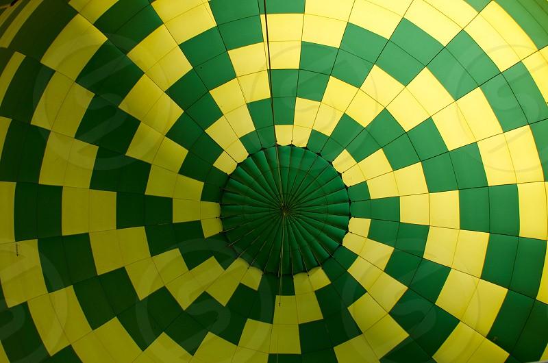 Inside of a hot air balloon photo