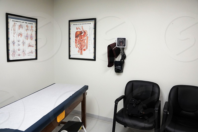 A doctors office.                                photo