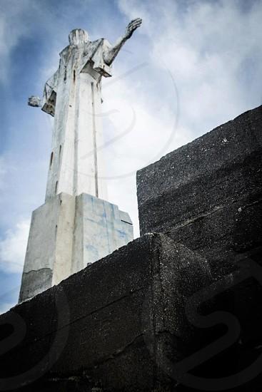 concrete christ statue photo