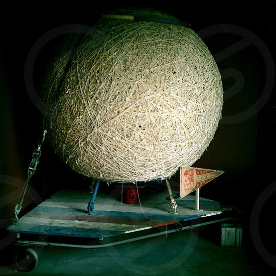 Giant ball of string 1776 Ball of String Bicentennial String Patterns Industrial Art photo