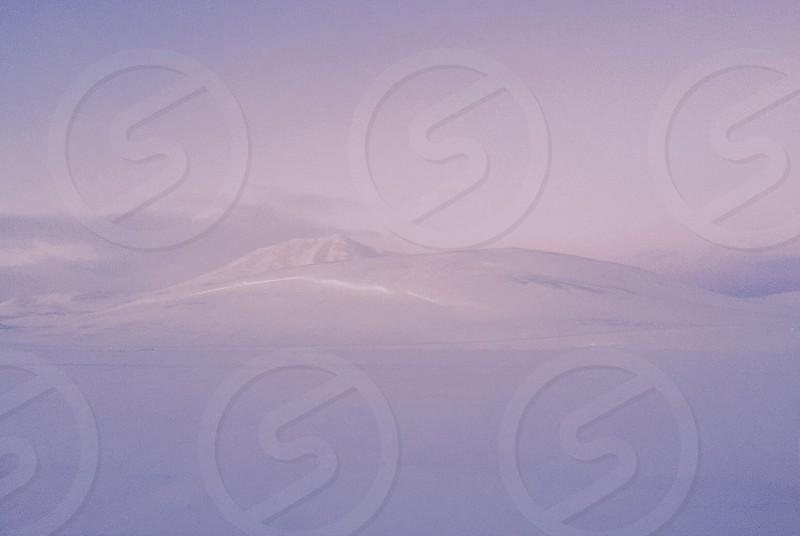 Winter snow highlands nothing else Iceland photo