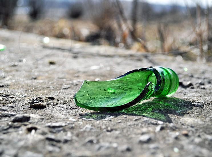 broken bottle photo