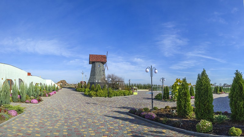 Odessa Ukraine - 10.27.2018. Ecolandia is a family friendly place with a restaurant hotel childrens entertainment complex and zoo eco-farm photo