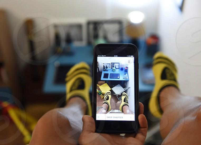 bedroom loft socks table office table yellow bed photo
